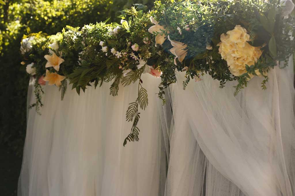 Dintel arco de boda