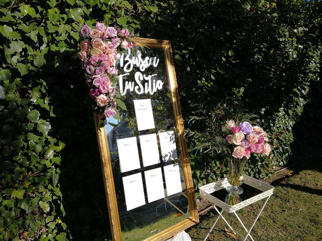 Decoración de boda seating plan