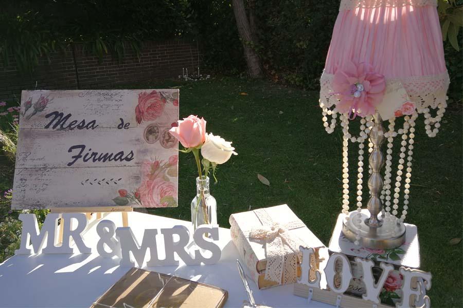 decoracion de mesa de firmas en madrid