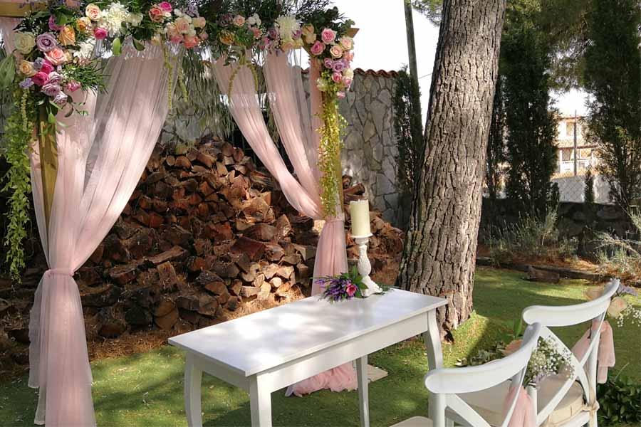 decoracion para boda arco nupcial