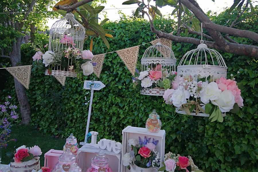 decoracion para boda candy bar exterior