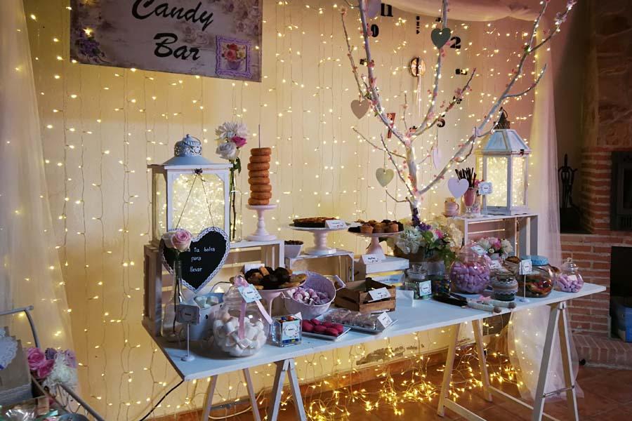 decoracion para boda candy bar interior