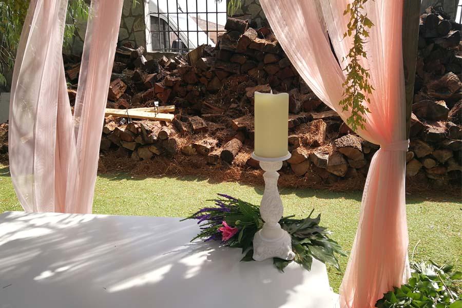 decoración para boda detalle altar