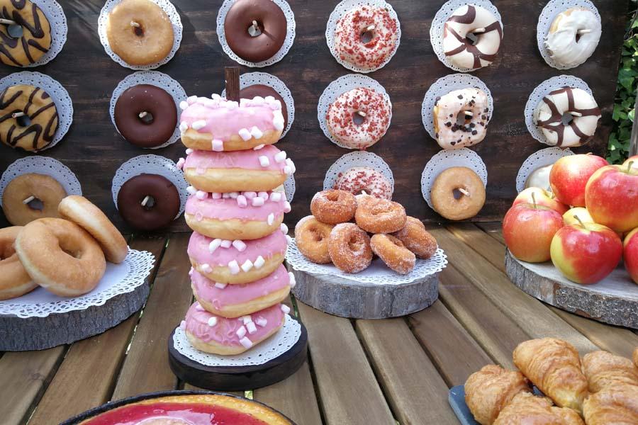 decoracion para boda donut bar