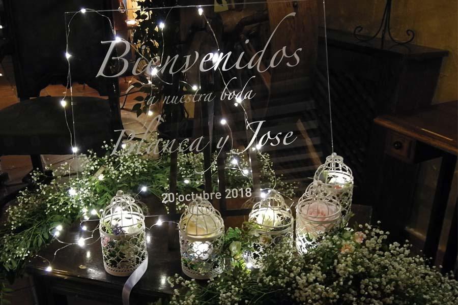 decorado para boda de noche bienvenida