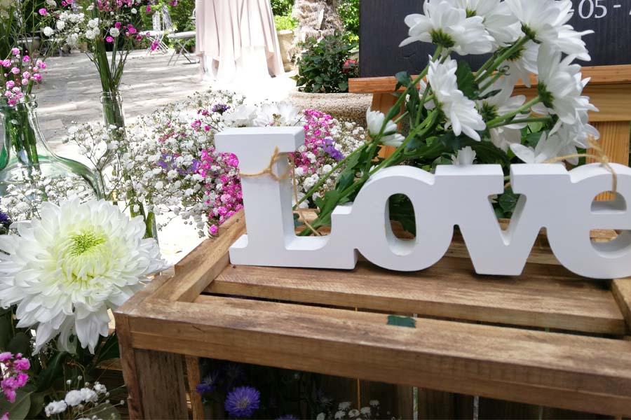 detalle rincon de bienvenida boda en Madrid