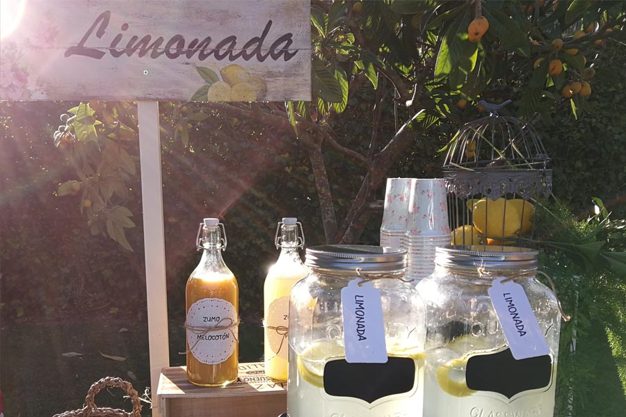 limonada para bodas en primavera