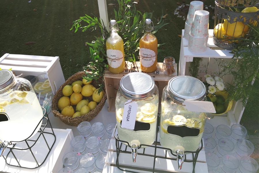 limones en cesta para bodas
