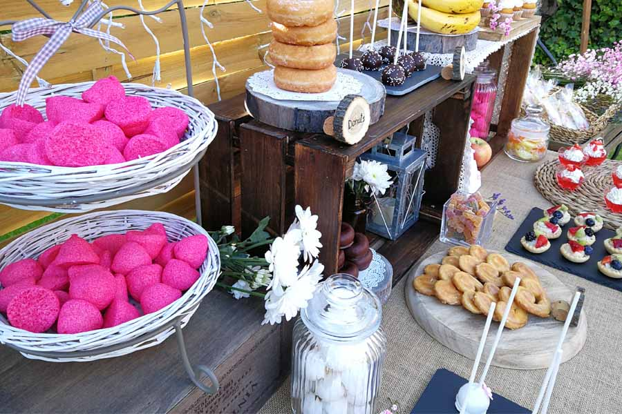 mesa de dulces para boda en Madrid